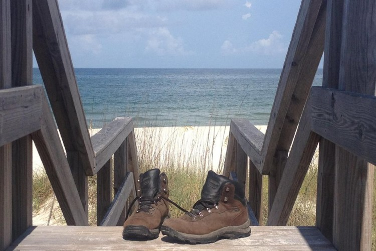 boots and sand